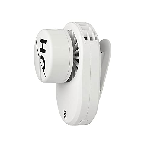 JKLJL Mini Ventilador de Clip,Ventilador de pulverización USB,Ventilador de Carga silencioso portátil,Adecuado para Exteriores,Estudio de Oficina,etc.Blanco.