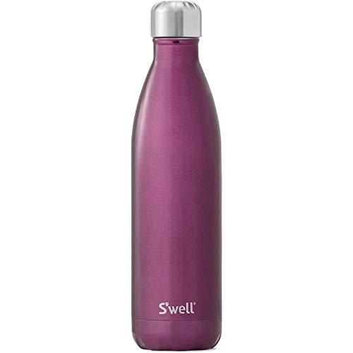 Swell Vakuum-isolierte Edelstahl-Wasserflasche, doppelwandig, 0,5 l, Kupfer Roségold, Sangria, 25 oz
