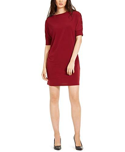 Michael Michael Kors Dolman Sleeve Grommet Dress Dark Brandy SM
