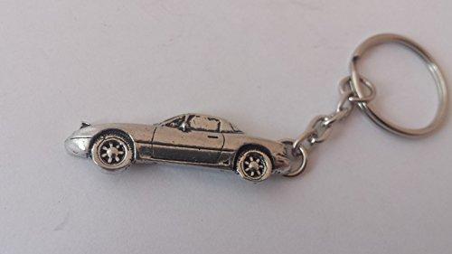 Mazda MX5 3D SPLIT RING keyring made from Fine English Pewter
