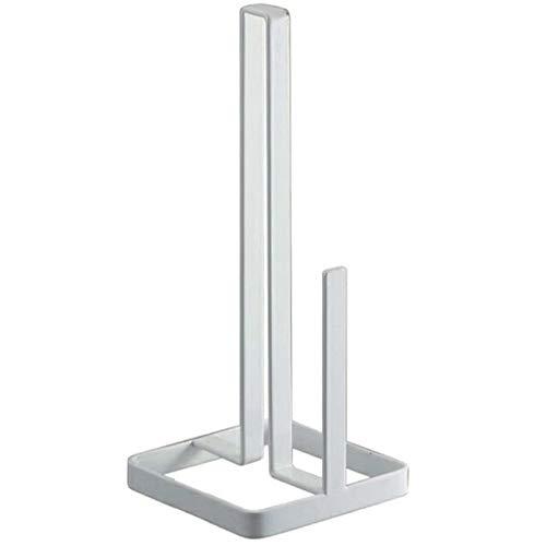 QUVIO Keukenrolhouder van staal/Staande keukenrolhouder - Wit