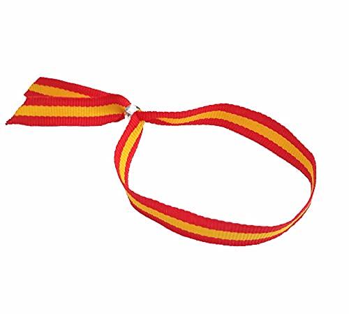 Pulsera Cinta Textil Bandera España Española Cierre Ajustable 1,2 x 30 cm España