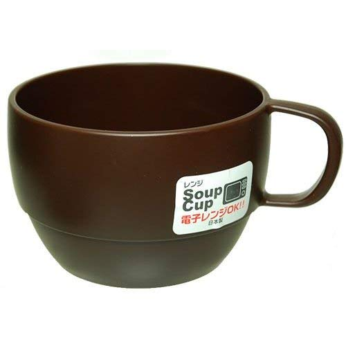 Japanese Microwavable Soup Mug Unbreakable for Kids Camping Travel Water Tea Coffee Milk Juice Mug 12 ounce BPA Free Non-Toxic Dishwasher Safe Made in Japan,Chocolate