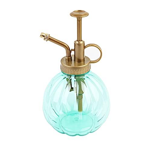 ZHANGYOUDE Sprühflasche 350ml Kürbis Plastikgartentopf Antike Bronzeweinlese Stil Pflanzen Bewässerung Handdruck-Spray Craft Flasche (blau) (Farbe : Green)
