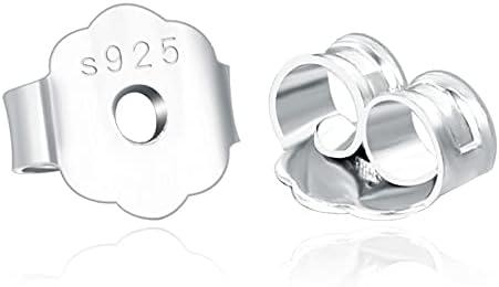 FC-42395 20pcs lot 4 Colors 925 Backs Silver Max 82% OFF Sterling Earrings Finally resale start
