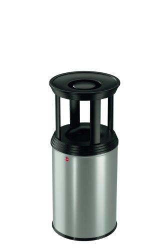 Hailo 0930-129 ProfiLine Combi Plus 30 liter as-papiermand, aluminiumgrijs-wit/matzwart