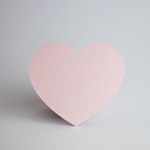 Papierherzen Rosa 100 Stück - 170g Papier zum Beschriften HANDMADE