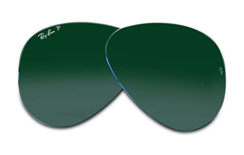 RayBan Original AVIATOR LARGE METAL RB3025 62MM Crystal Green Polarized Replacement Lenses For Men For WomenFREE Complimentary Eyewear Care Kit