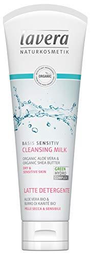 lavera Basis Sensitiv Reinigungsmilch ∙ Vegan ✔ Bio Hautpflege ✔ Natürliche & Innovative Kosmetik ✔ 125ml