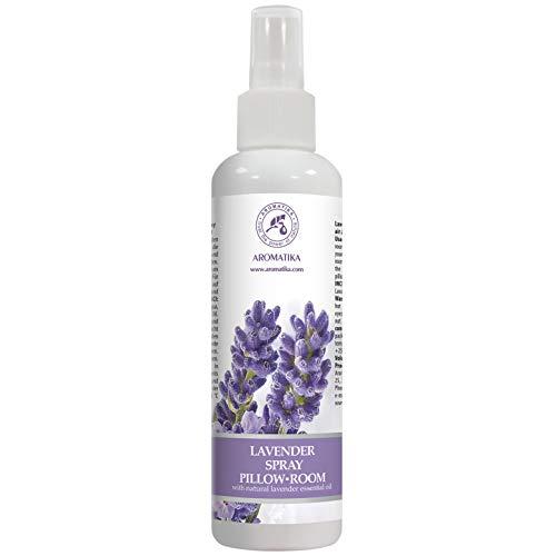 Spray Lavande aux Huiles Essentielles Pur & Naturel 250 ml - Idéal Spray d'Ambiance - pour Yoga - Aromathérapie - Coussins à Vaporiser - Relaxation - Sommeil et Air Ambiant + Aroma Spray