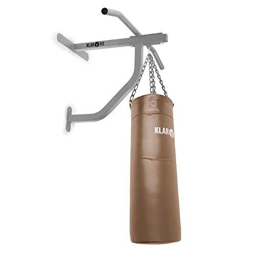Karfit Big Punch Strong Edition - Klimmzugstange-Boxsack-Kombination, Sandsack Aufhängung, Reckstange inkl. Boxsack, 80 x 30 cm großer Trefferzone, max. 350 kg Belastbarkeit