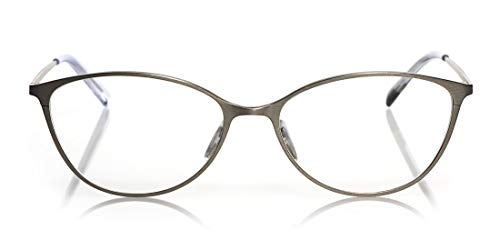 eyebobs Jane Dandy Premium Women's Reading Glasses, Gold Front and Temples, 0.00 Magnification