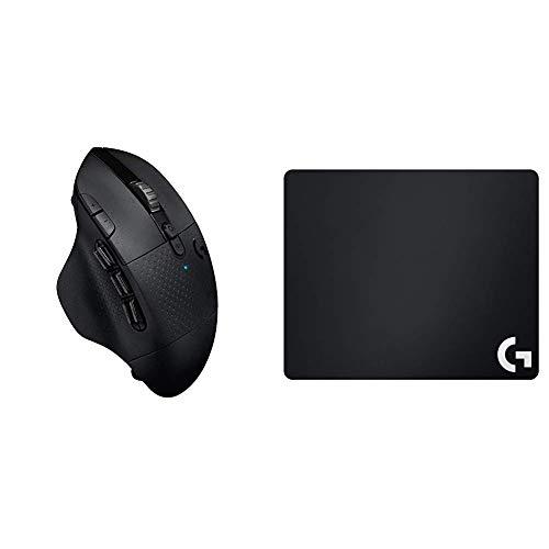Oferta de Logitech G G604 LIGHTSPEED Ratón Gaming Inalámbrico, Captor HERO 25K, 15 Botones Programables, Batería 240h y G640 Alfombrilla de Ratón para Gaming de Tela, Grosor 3mm, 460 x 400mm, PC/MAC