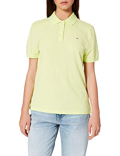 Tommy Hilfiger Tjw Slim Polo Camiseta, Verde (Faded Lime), L para Mujer