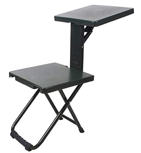 Zusammenklappbarer Campingstuhl, tragbarer Tisch, Camping-Hocker, strapazierfähig, bequem, Camping-Möbel, Mehrzweck-Schreibtisch und Stuhl im Freien Schwarz