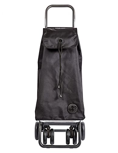 Shopping Trolley Rolser I-Max MF 4 Wheels 2 Swivelling Foldable - Black