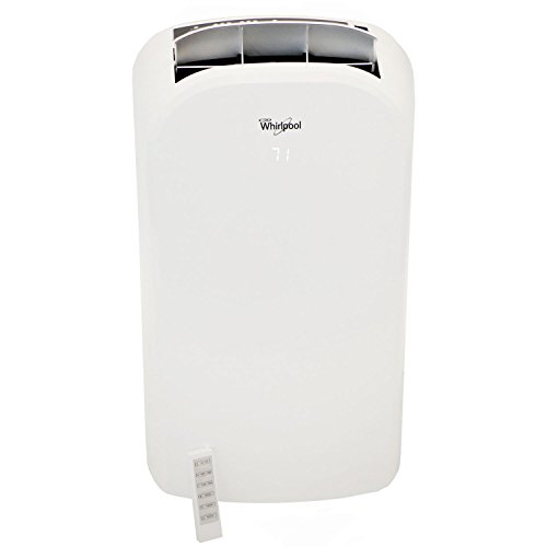 Whirlpool 14,000 BTU Dual-Exhaust Portable Air Conditioner with Remote Control in White, Rooms up to 400-Sq. Ft
