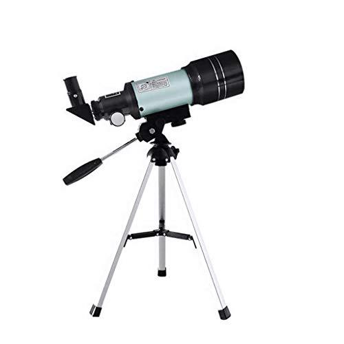 RUI - K25 Telescopio astronómico, telescopio Refractor de 360/70 mm 150X HD Lens Telescopio monocular con trípode Girar for Principiantes Niños Sky Stars Watching