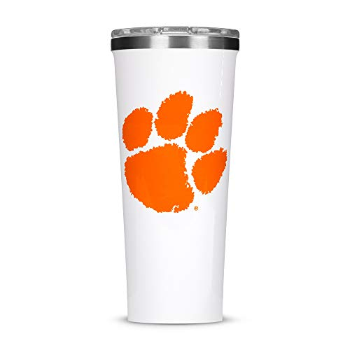 Corkcicle Tumbler - 24oz NCAA Triple Insulated Stainless Steel Travel Mug, Clemson University Tigers, Big Logo