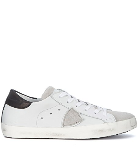 Philippe Model Sneakers Paris In Leder Weiss Und Suède Grau