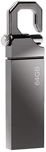 Memorias USB 3.0 128GB, Mini Pendrive 3.0 128GB USB 3.0 Unidad Flash Impermeable Metal USB Stick 3.0 128GB con Llavero Colgante para Computadoras, Tabletas y Coche Otros Dispositivos