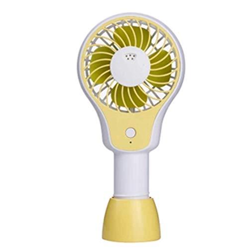 yunyu Ventilador de Mano para Dama, Ventilador Personal de Mano USB Escritorio portátil Mini Ventilador eléctrico Ventilador para Cochecito de bebé Batería Recargable Conveniente (Color: Amarillo)
