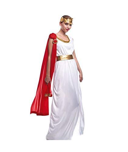 Disfraz Romana Clsica Mujer GriegaTallas S a L[Talla S] Toga Roja Corona Laurel | Disfraces Carnaval Histricos Antigua Grecia Roma para Adultos