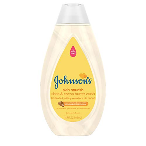 Johnson's Baby Skin Nourishing Wash With Shea Cocoa Butter Hypoallergenic Tear Free Wash 16.9 fl. (Pack of 3) 50.7 Fl Oz