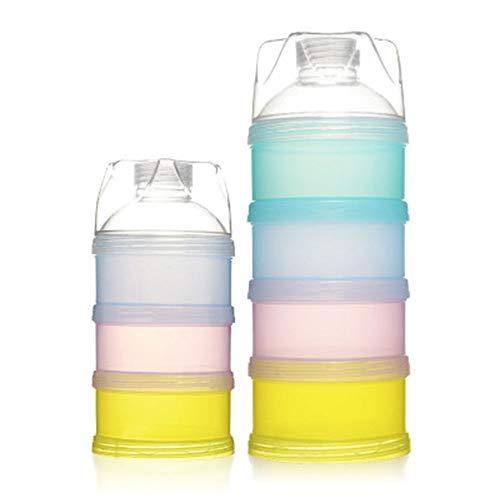 Milch Pulver Spender, Formel Milchpulver Zufuhr, Säuglingsformel Milchpulver Säuglingsnahrung Kasten Tragbare Milchkasten Kann für Reise im Freien/Nachtzeit Krankenpflege Gestapelt Werden (2 Stück)