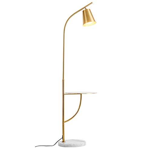 Staande lamp, LED verticale woonkamer sofa salontafel slaapkamer bedlampje verguld messing geborsteld