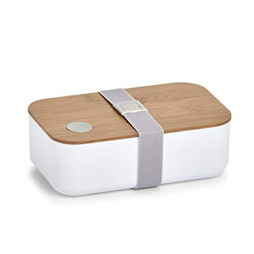 Zeller Lunch-Box, Plastik, Weiß, ca. 19,3 x 11,8 x 6,8 cm