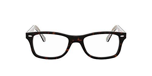 Ray-Ban RX5228 5409 53-17 Rayban RX5228 5409 53-17 Rechteckig Brillengestelle 53, Schwarz