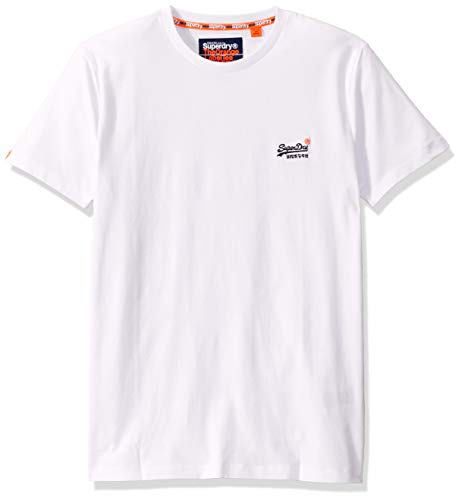 Superdry Herren Orange Label Vintage Logo Embroidery Tee T-Shirt, Weiß (optic white), Small
