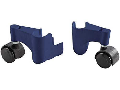 Leifheit Zubehör-Set Pegasus, zwei gummierte Rollen für Mobilität in alle Richtungen, schieben statt tragen, hohe Standsicherheit, 360° Rollen für Leifheit Standtrockner, Wäscheständer, Wäschetrockner