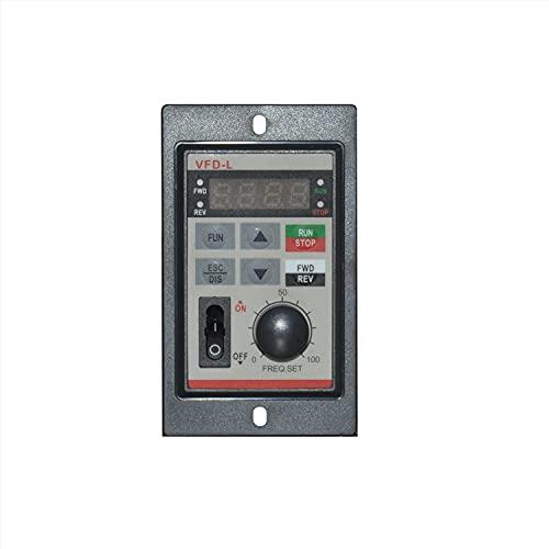 LHSJYG Controlador De Motor,Controladores De Velocidad D Registro de frecuencia Variable de Motor 22 0V0.75K Controlador de Motor W Micro Inversor de Motor pequeño