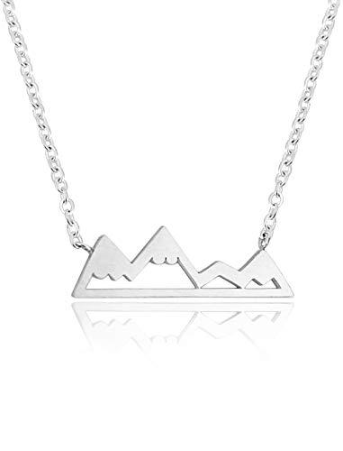 Altitude Boutique Snowy Bergkette für Frauen,Naturliebhaber,Skifahrer,Snowboarder,Wanderer,Camper Silber