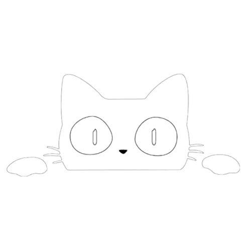 dongguanshuhui Sorpresa Gato espiar Interesante calcomanías de Vinilo Coche/camión portátil(None A)