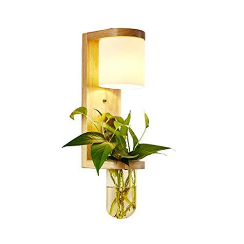 LLDKA Moderno nórdico Pared de la lámpara de Pared de Roble de la Pared decoración de la lámpara de Interior de Lavado Pared de Cristal E27 iluminación Minimalista Aplique de Estilo