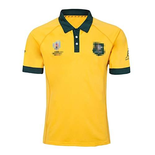 ZSZKFZ 2019 Australian Heim- Und Auswärts Rugby Jersey, Rugby-T-Shirt (Color : Yellow, Size : XXL)