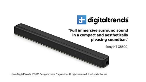 Sony HTX8500 2.1ch Dolby Atmos/DTS:X Soundbar with Built-in subwoofer, Black