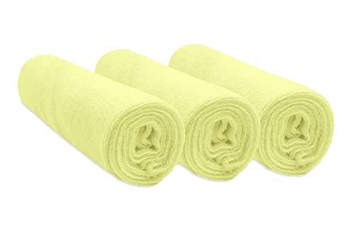 Easy Dort - Set di 3 fodere per materasso fasciatoio, in cotone, 50 x 70/80 cm, colore: Verde anice