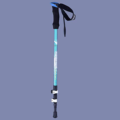 XYL HOME Alpinisme, Canne système Trekking Pole Lock Outdoor Lock Alpinisme randonnée 7075 Aviation en Alliage d'aluminium, Bleu, 135cm