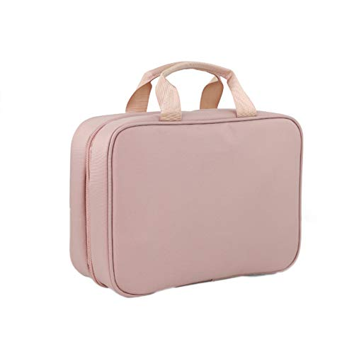 TWW Men's wash bag can be suspended travel multifunctional simple storage bag, gym bathroom waterproof shower bag women,Pink