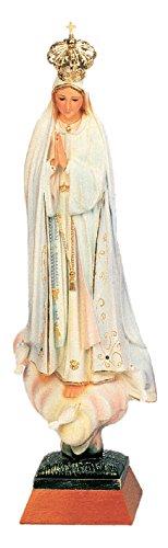 Ferrari & Arrighetti Imagen de la Virgen de Fátima de 48 cm Pintada a Mano y embellecida con Strass