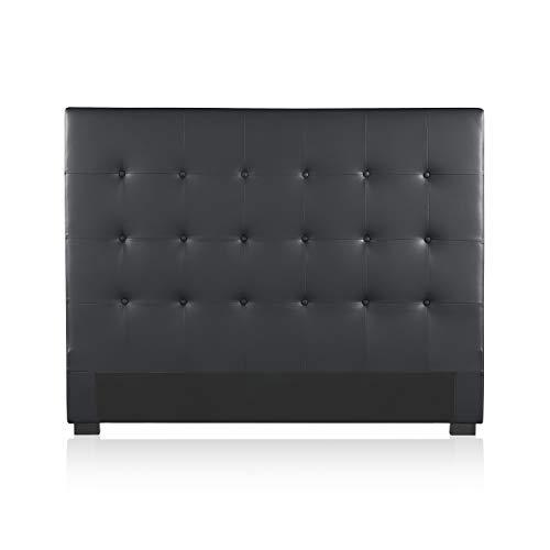 Intense Déco - Tête de lit capitonnée Premium 140cm Noir
