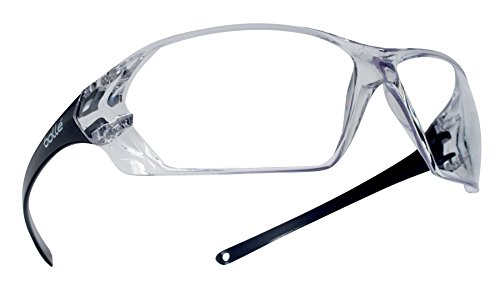 Bollé Safety 253PR40057 Prism Safety Eyewear with Shiny Black Rimless Frame and Clear AntiScratch/AntiFog Lens