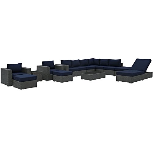 Wicker Rattan Outdoor Patio Set by Modway
