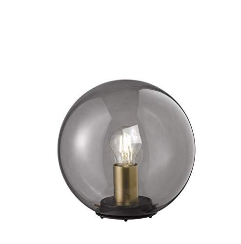 Fischer&Honsel Dini tafellamp, glas, 40 W, zwart