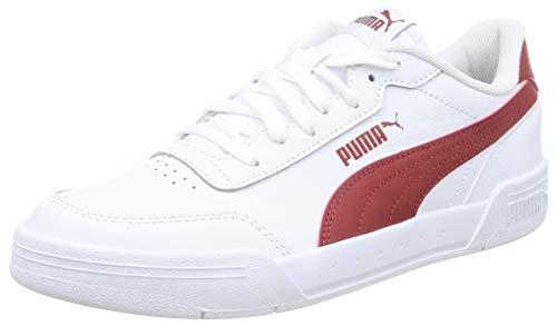 PUMA CARACAL, Zapatillas Unisex Adulto, Blanco White/Red Dahlia, 43 EU