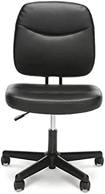 Cool Amazon Com Ofm Essentials Collection Armless Leather Desk Alphanode Cool Chair Designs And Ideas Alphanodeonline
